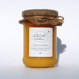 Vasarinis medus, 400 g. (stiklainis)