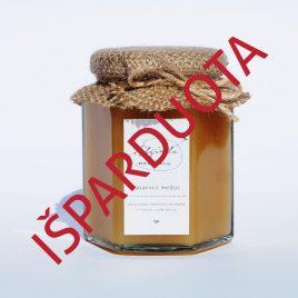 Vasarinis medus, 400 g. (šešiakampis stiklainis)
