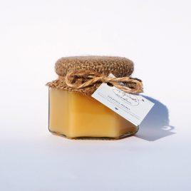 Vasarinis medus, 125 g. (šešiakampis stiklainis)