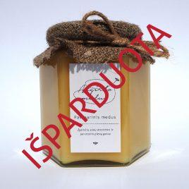 Pavasarinis medus, 500 g. (šešiakampis stiklainis)