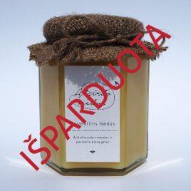 Pavasarinis medus, 400 g. (šešiakampis stiklainis)