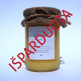 Pavasarinis medus, 400 g. (dekoruotas stiklainis)