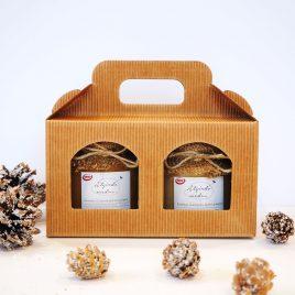 Medaus dovana dėžutėje – namelyje, 500 g.
